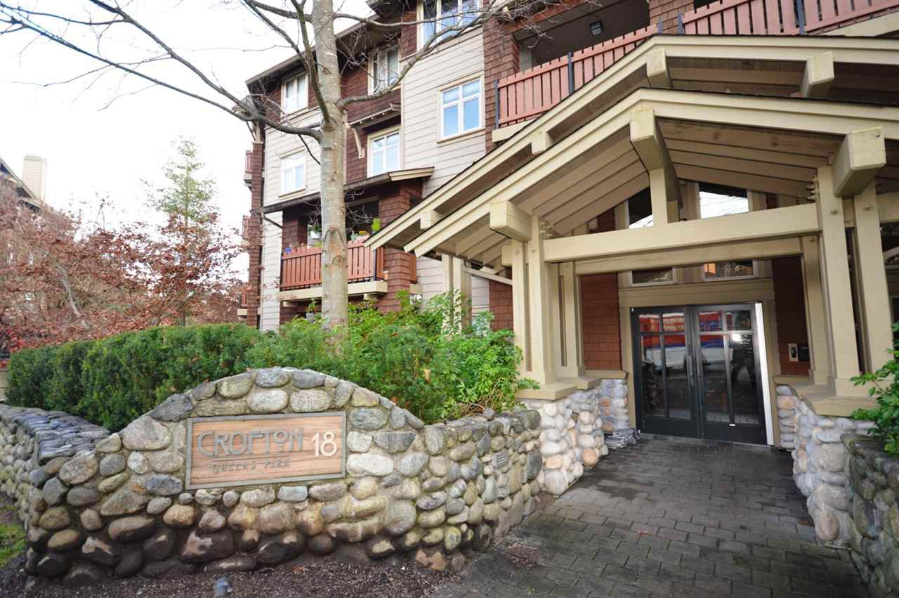 """Main Photo: 101 18 SMOKEY SMITH Place in New Westminster: GlenBrooke North Condo for sale in """"CROFTON"""" : MLS®# R2122657"""