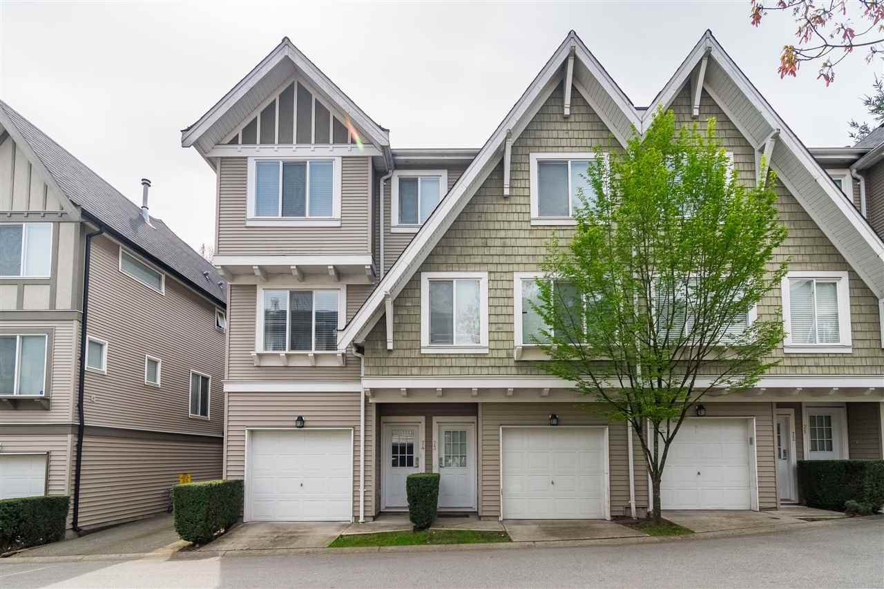 "Main Photo: 74 8775 161 Street in Surrey: Fleetwood Tynehead Townhouse for sale in ""Ballentyne"" : MLS®# R2387297"