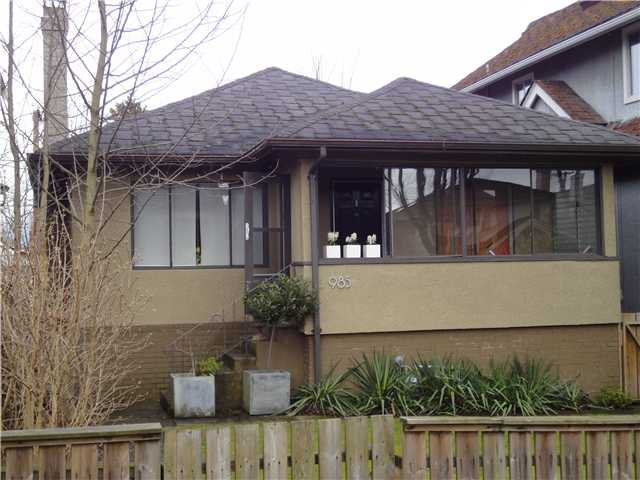 Main Photo: 985 W 23RD Avenue in Vancouver: Cambie House for sale (Vancouver West)  : MLS®# V876823