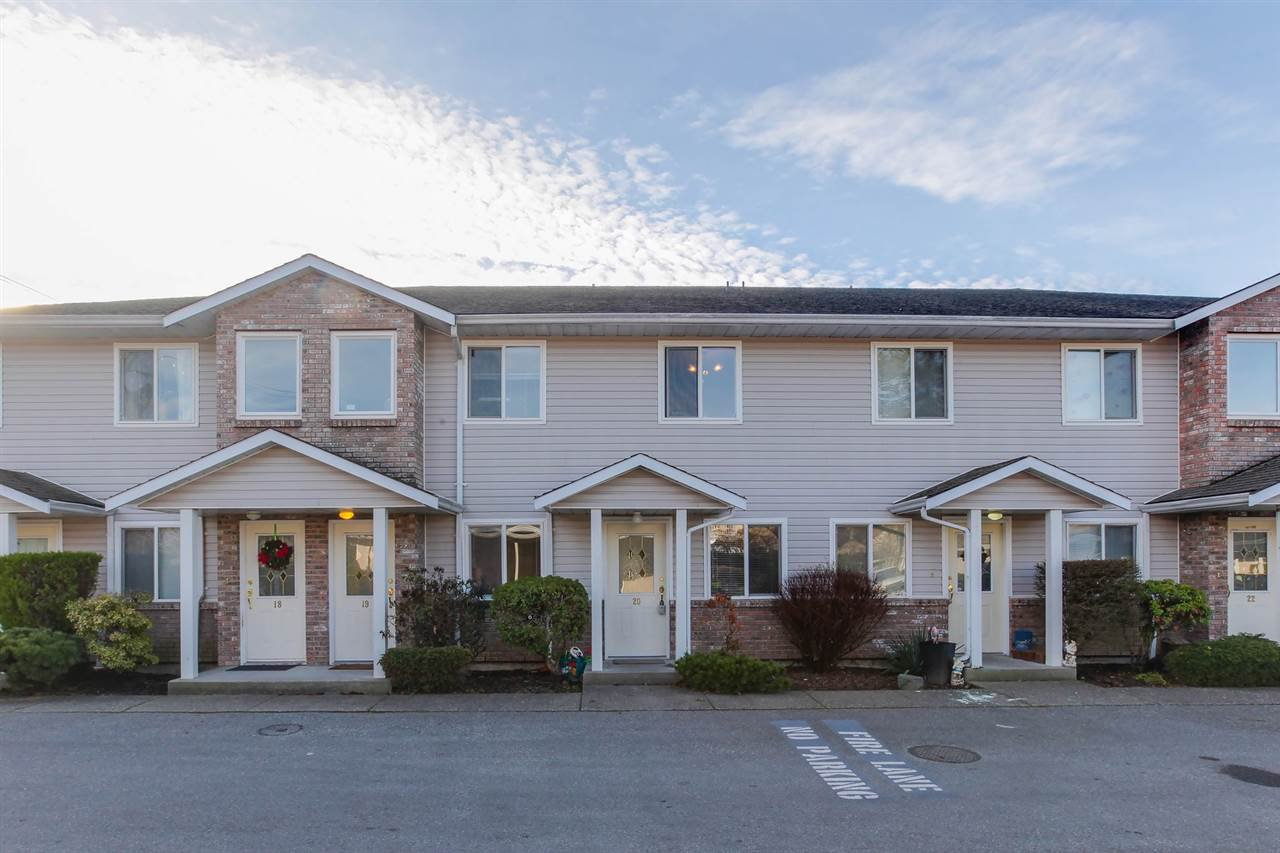 Main Photo: 20 46735 YALE ROAD in : Chilliwack E Young-Yale Townhouse for sale : MLS®# R2227664