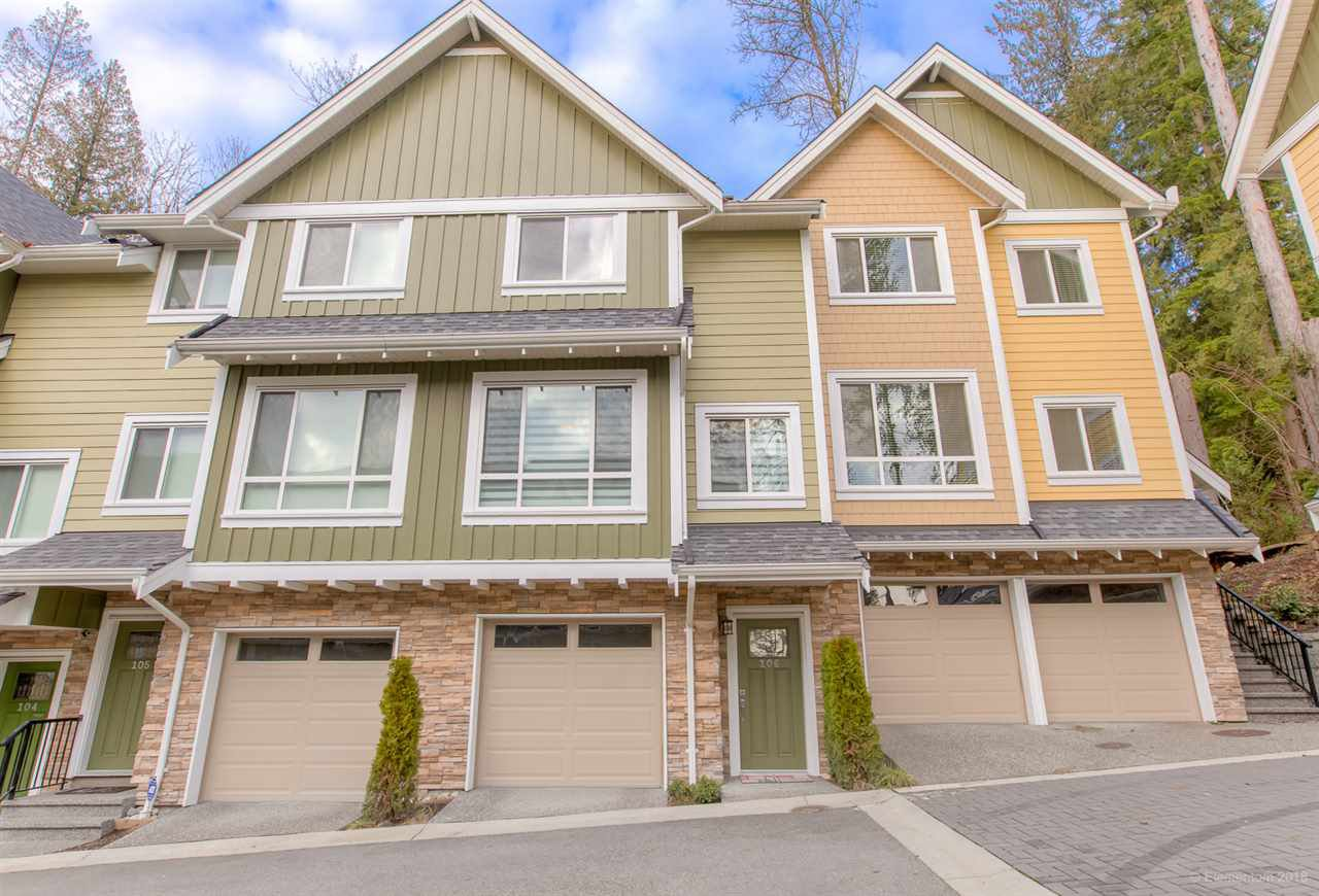"Main Photo: 106 1405 DAYTON Street in Coquitlam: Burke Mountain Townhouse for sale in ""ERICA"" : MLS®# R2333432"
