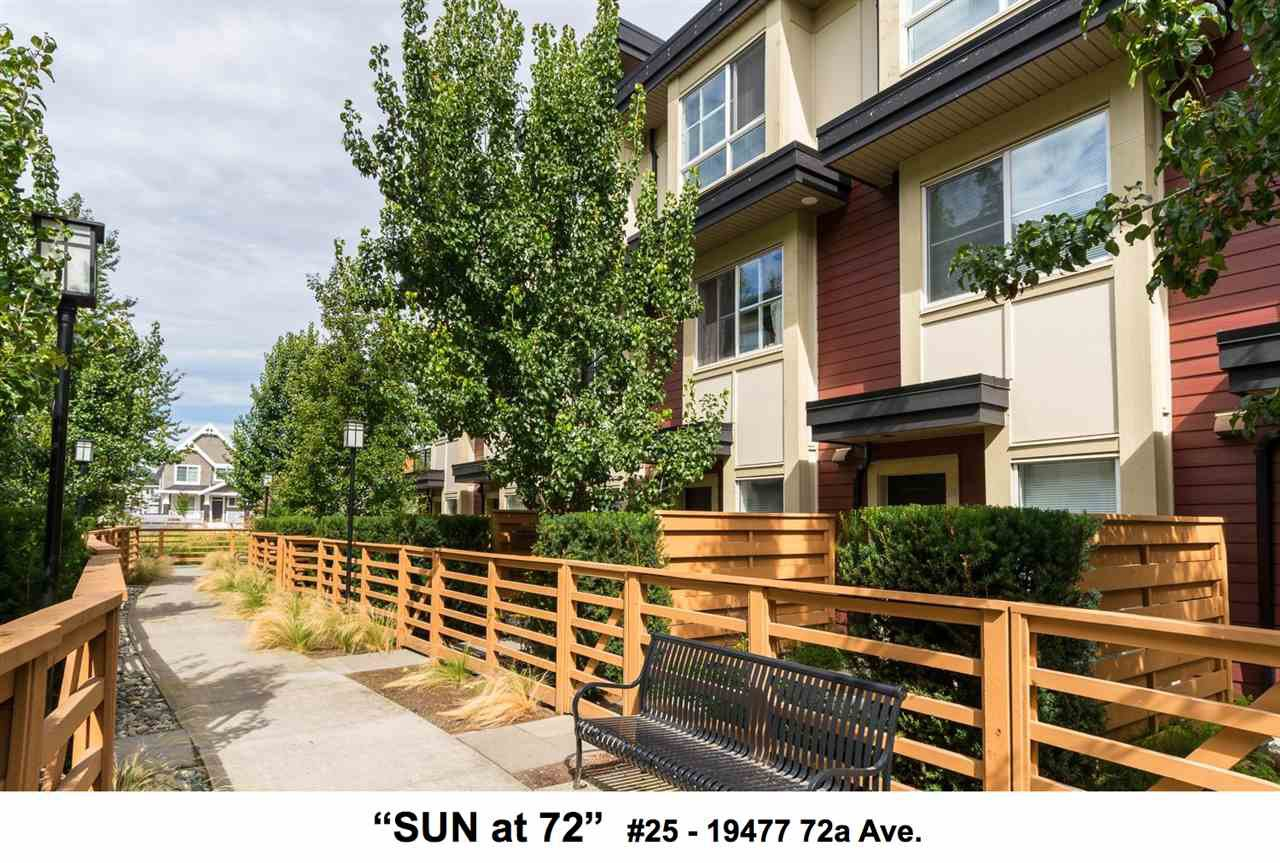 "Main Photo: 25 19477 72A Avenue in Surrey: Clayton Townhouse for sale in ""Sun at 72"" (Cloverdale)  : MLS®# R2094312"