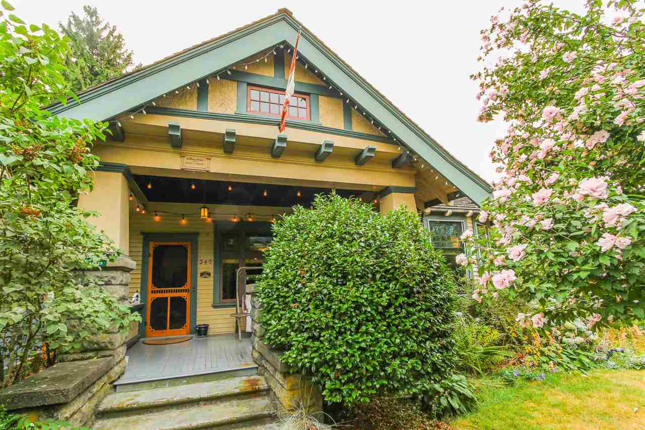 Main Photo: 340 TENTH STREET in New Westminster: Uptown NW House for sale : MLS®# R2218103