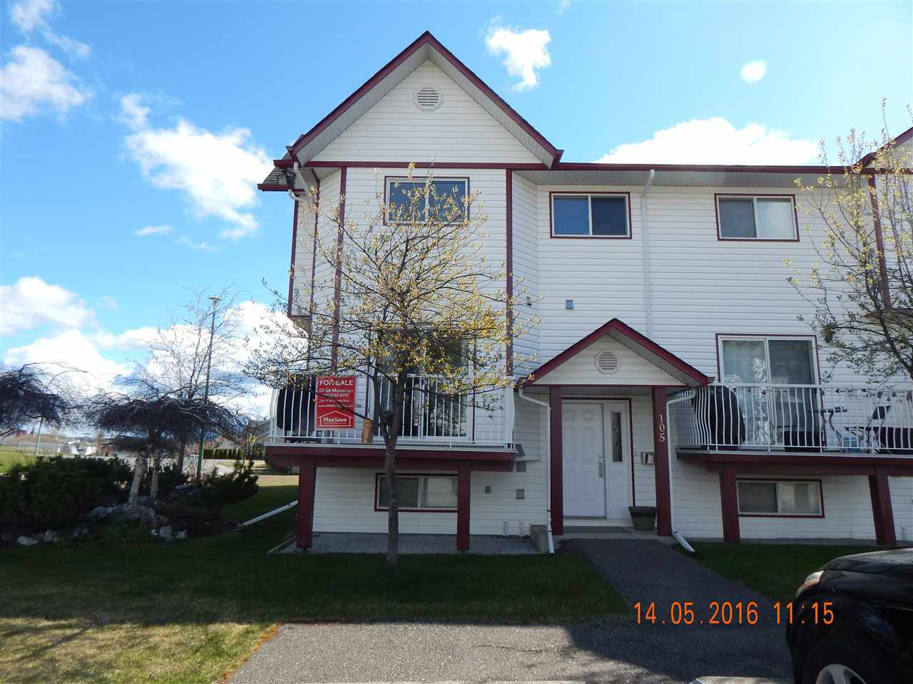 """Main Photo: 105 3015 ST ANNE Crescent in Prince George: St. Lawrence Heights Townhouse for sale in """"SOUTHRIDGE / ST LAWRENCE"""" (PG City South (Zone 74))  : MLS®# R2057311"""