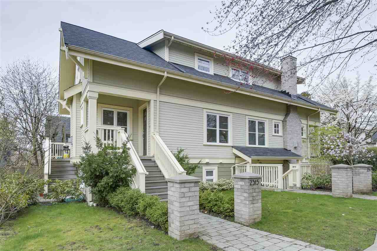 Main Photo: 2315 BALSAM Street in Vancouver: Kitsilano Townhouse for sale (Vancouver West)  : MLS®# R2255834