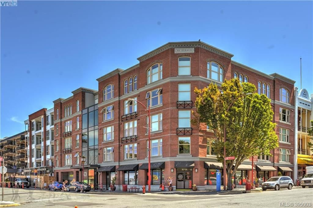 Main Photo: 403 601 Herald Street in VICTORIA: Vi Downtown Condo Apartment for sale (Victoria)  : MLS®# 395003