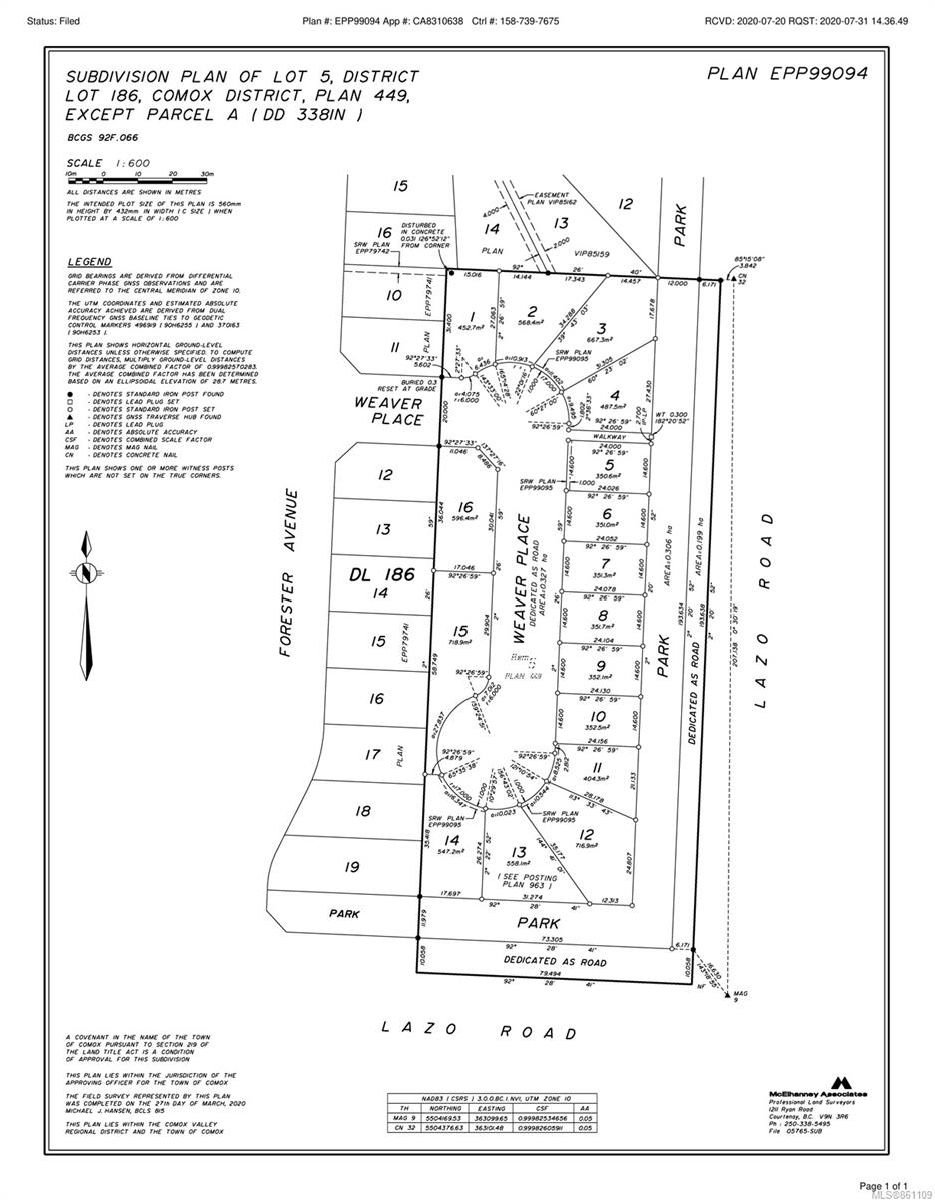Main Photo: Lt 5 1170 Lazo Rd in : CV Comox (Town of) Land for sale (Comox Valley)  : MLS®# 861109
