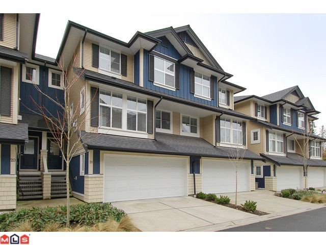 "Main Photo: 21 18199 70TH Avenue in Surrey: Cloverdale BC Townhouse for sale in ""AUGUSTA"" (Cloverdale)  : MLS®# F1105716"