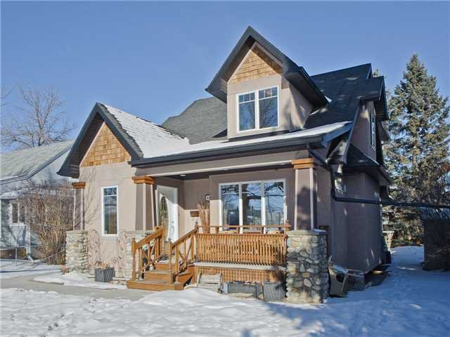 The exquisite family home is located on a quiet street, directly across from a park!