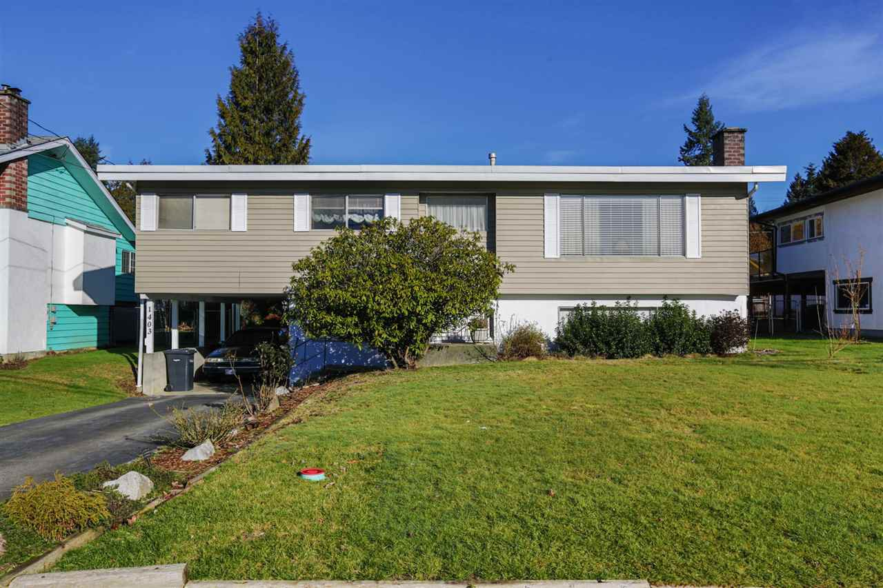 Main Photo: 1403 GROVER Avenue in Coquitlam: Central Coquitlam House for sale : MLS®# R2040902