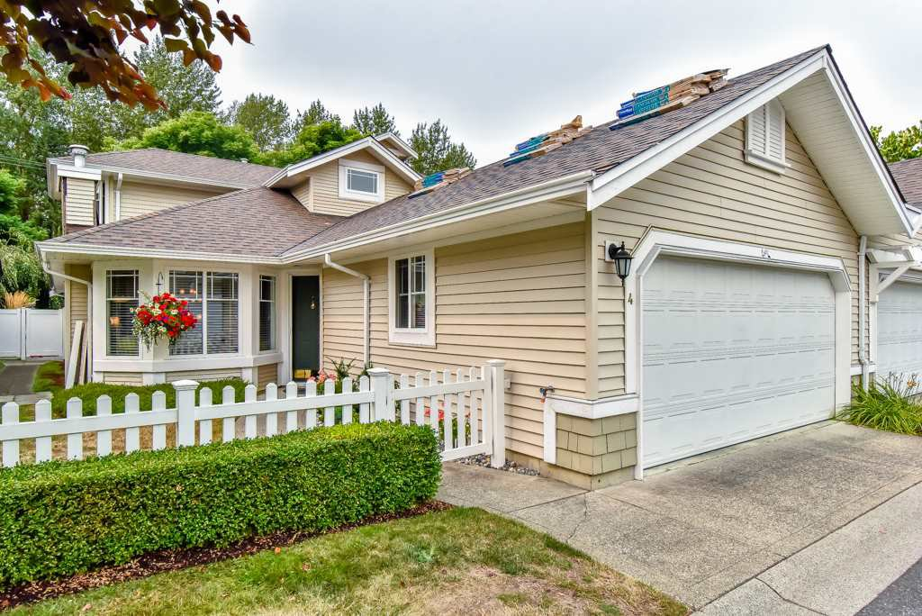 "Main Photo: 4 6488 168 Street in Surrey: Cloverdale BC Townhouse for sale in ""TURNBERRY"" (Cloverdale)  : MLS®# R2298563"