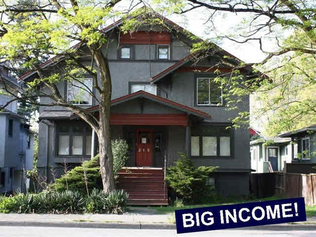 Main Photo: 215 W 12TH Avenue in Vancouver: Mount Pleasant VW Multifamily for sale (Vancouver West)  : MLS®# V1127972