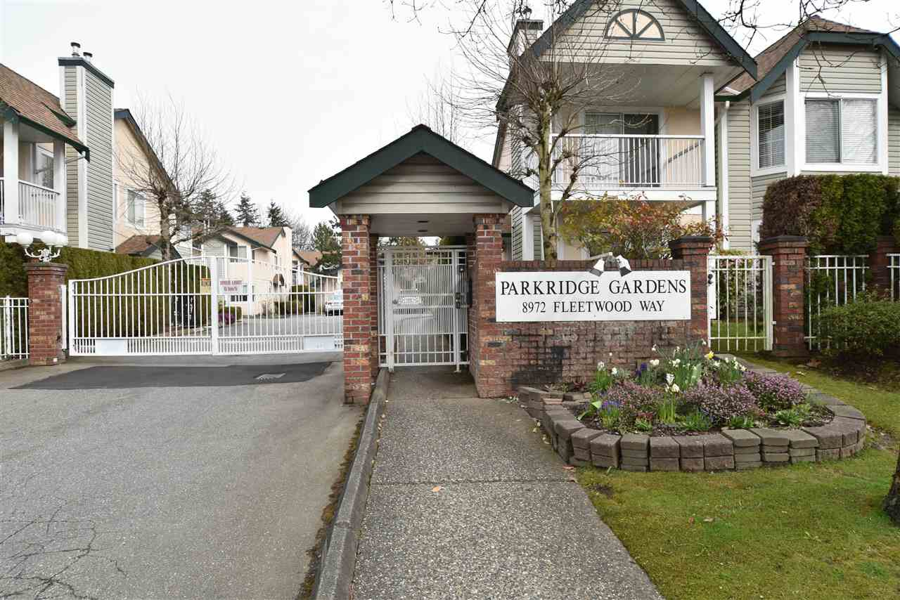 "Main Photo: 402 8972 FLEETWOOD Way in Surrey: Fleetwood Tynehead Townhouse for sale in ""Parkridge Gardens"" : MLS®# R2306698"
