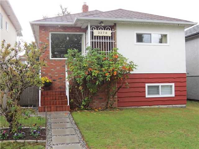Main Photo: 3278 WILLIAM ST in Vancouver: Renfrew VE House for sale (Vancouver East)  : MLS®# V1030304