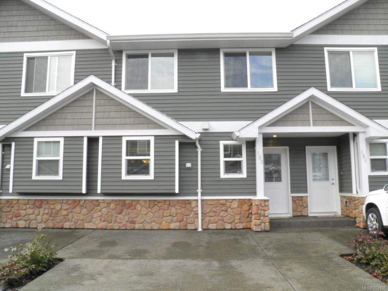 Main Photo: 103 170 Centennial Dr in COURTENAY: CV Courtenay East Row/Townhouse for sale (Comox Valley)  : MLS®# 755190