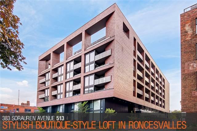 Main Photo: 383 Sorauren Ave Unit #513 in Toronto: Roncesvalles Condo for sale (Toronto W01)  : MLS®# W3911150