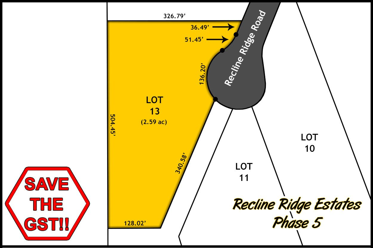 Recline Ridge Estates - Phase V - Lot 13