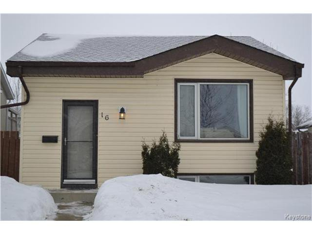 Main Photo: 16 Red Maple Road in Winnipeg: Riverbend Residential for sale (4E)  : MLS®# 1702335