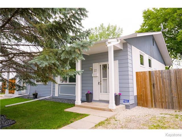 Main Photo: 37 Gowler Road in Winnipeg: Westwood / Crestview Residential for sale (West Winnipeg)  : MLS®# 1617177