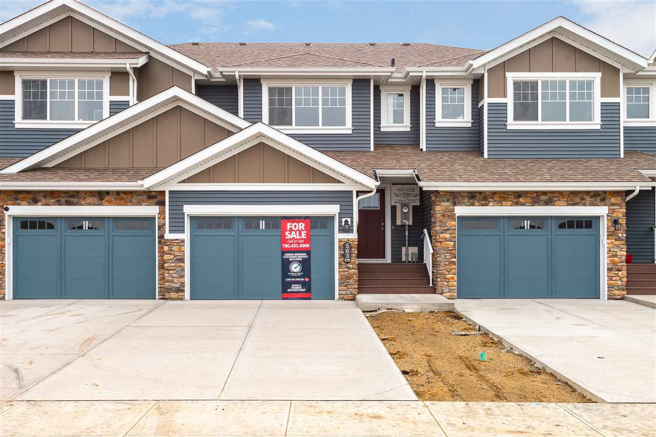Main Photo: 563 Ebbers Way NW in Edmonton: Zone 02 Attached Home for sale : MLS®# E4173724