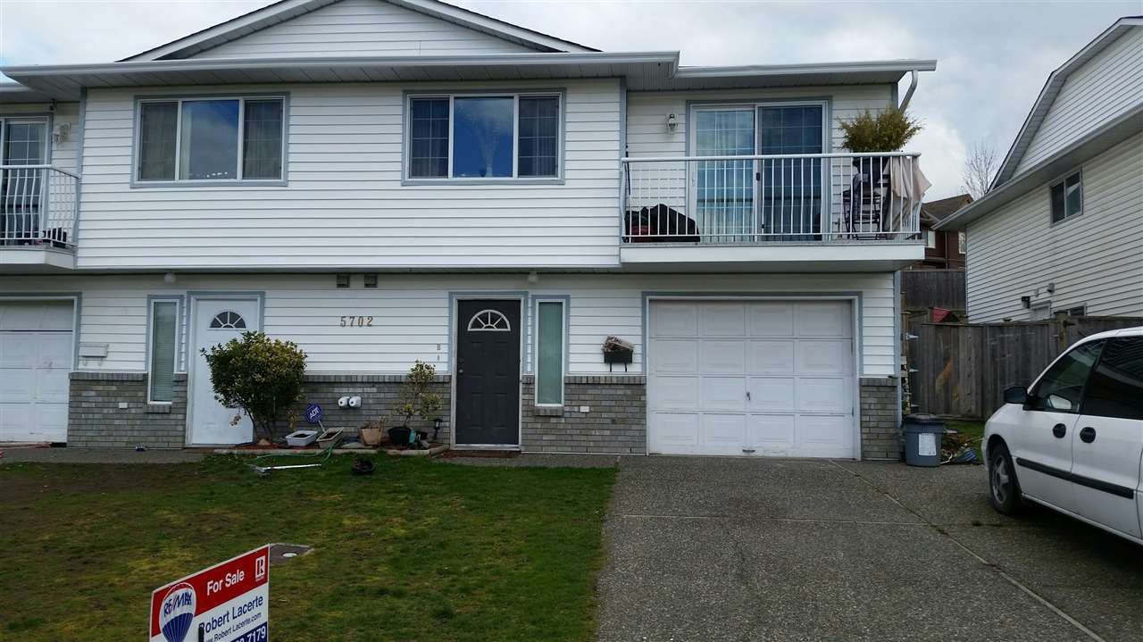 Main Photo: B 5702 KATHLEEN Drive in Chilliwack: Vedder S Watson-Promontory House 1/2 Duplex for sale (Sardis)  : MLS®# R2151182
