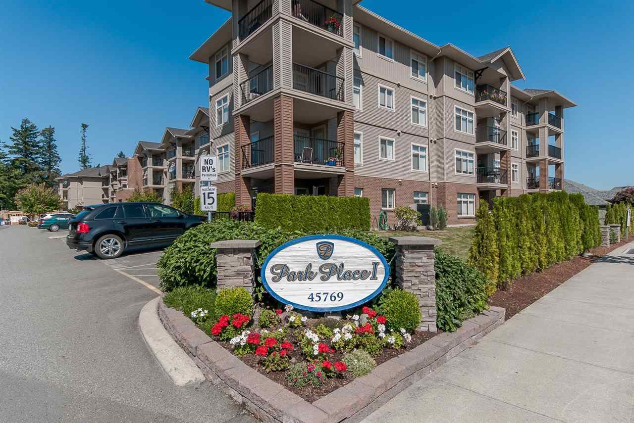 """Photo 17: Photos: 220 45769 STEVENSON Road in Sardis: Sardis East Vedder Rd Condo for sale in """"Park Place 1"""" : MLS®# R2348793"""