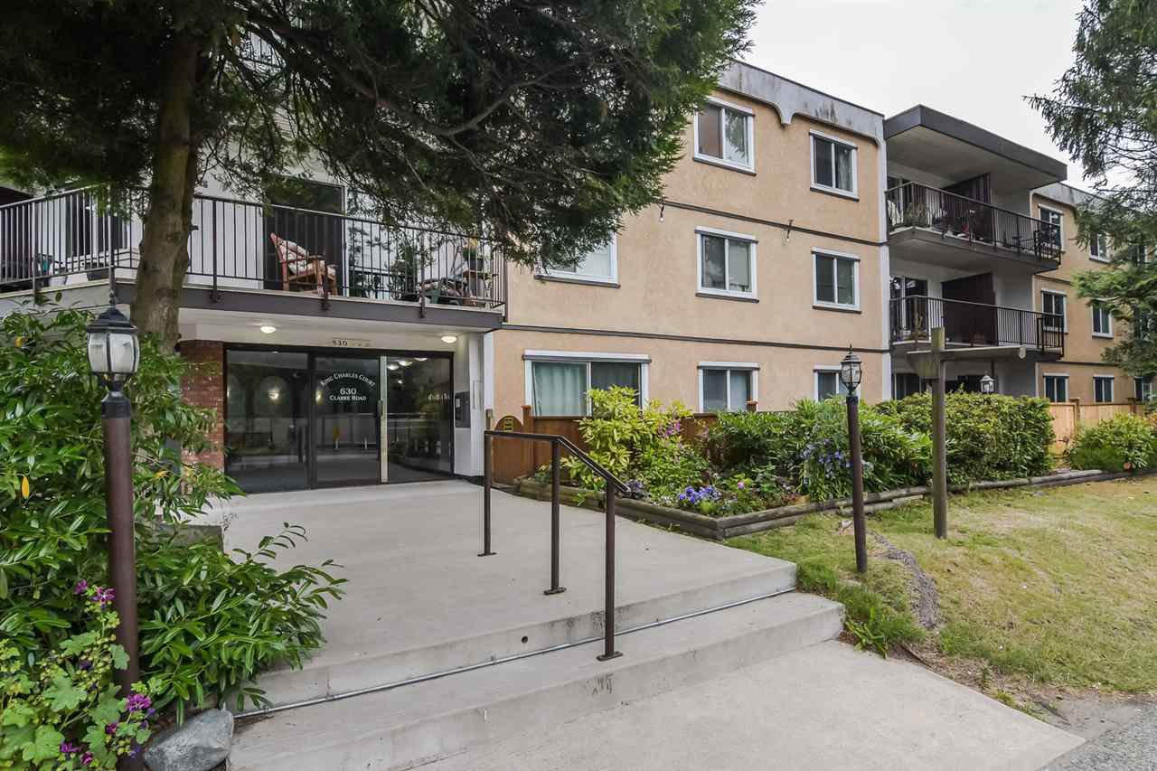 "Main Photo: 205 630 CLARKE Road in Coquitlam: Coquitlam West Condo for sale in ""King Charles Court"" : MLS®# R2387151"