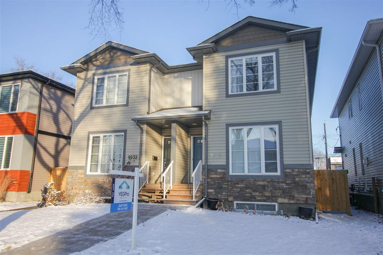 Main Photo: 9530 72 Avenue in Edmonton: Zone 17 House Half Duplex for sale : MLS®# E4181482