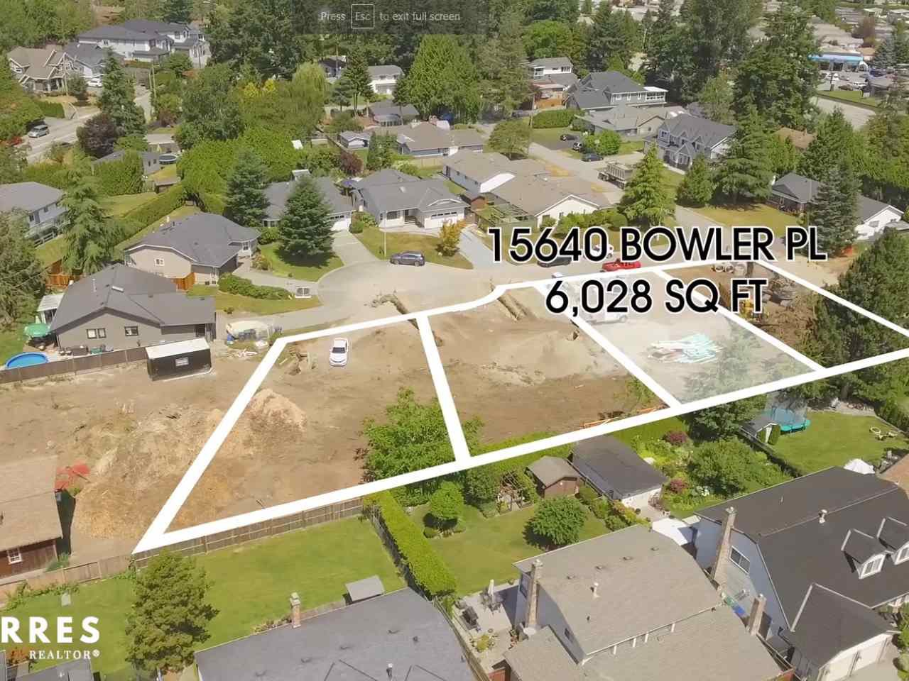 Main Photo: 15640 BOWLER Place in Surrey: King George Corridor Land for sale (South Surrey White Rock)  : MLS®# R2384981
