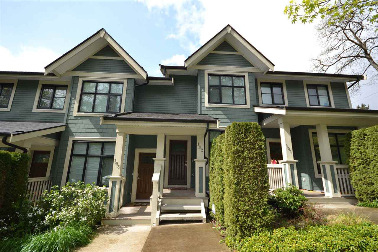 Main Photo: 102 8485 NEW HAVEN Close in Burnaby: Big Bend Townhouse for sale (Burnaby South)  : MLS®# R2057131
