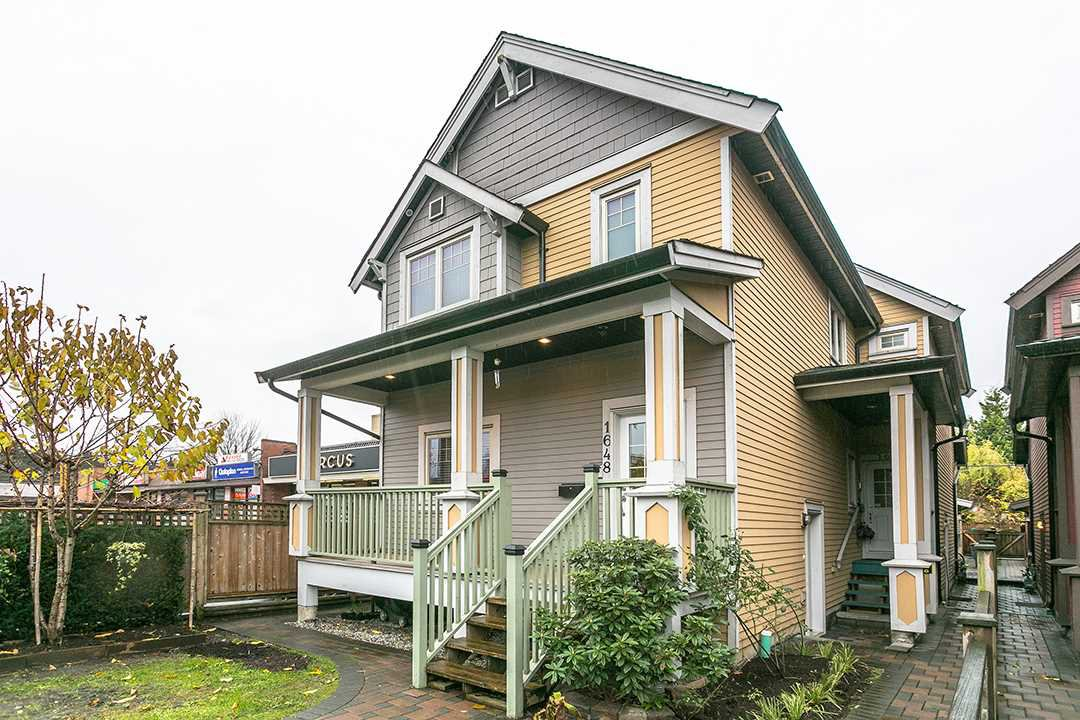 "Main Photo: 1648 E 12TH Avenue in Vancouver: Grandview VE House 1/2 Duplex for sale in ""GRANDVIEW WOODLANDS"" (Vancouver East)  : MLS®# R2222114"