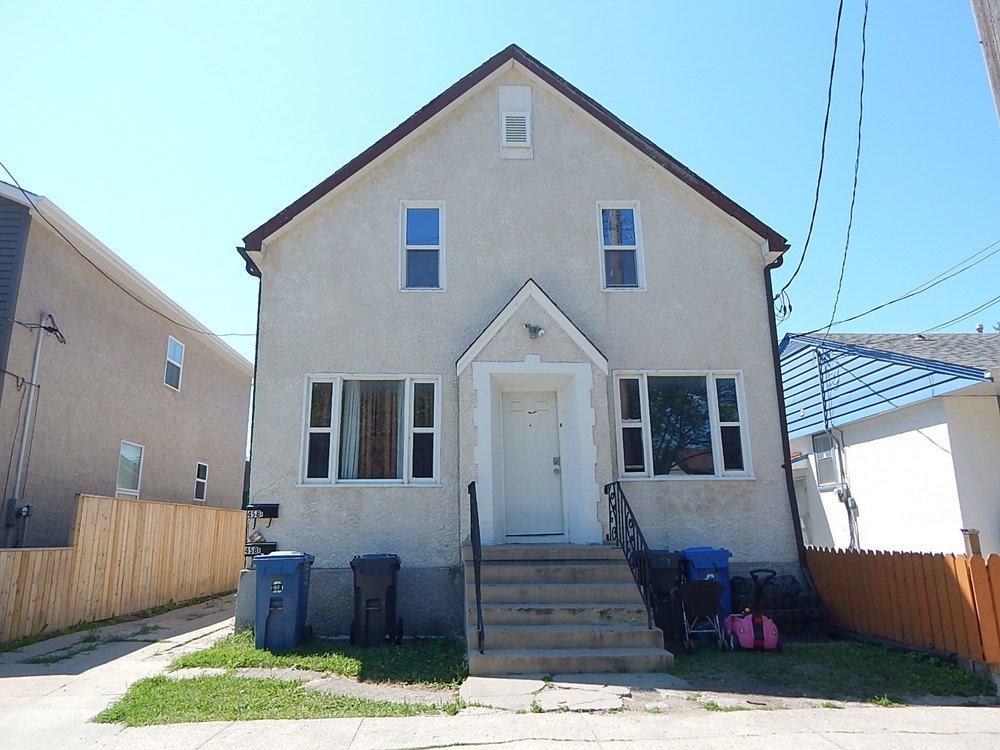 Main Photo: 458 Burrows Avenue in Winnipeg: Duplex for sale : MLS®# 1819452
