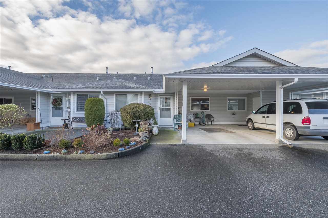 "Main Photo: 258 7610 EVANS Road in Chilliwack: Sardis West Vedder Rd Townhouse for sale in ""Cottonwood Retirement Village"" (Sardis)  : MLS®# R2360162"