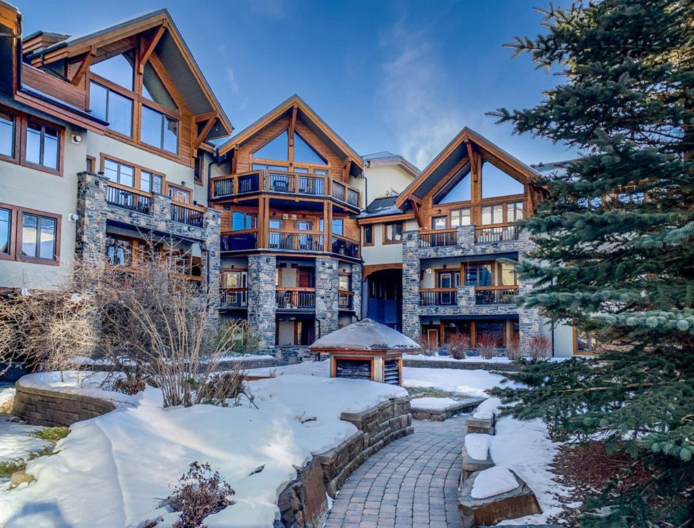 Main Photo: 112 505 Spring Creek Drive: Canmore Apartment for sale : MLS®# A1059035