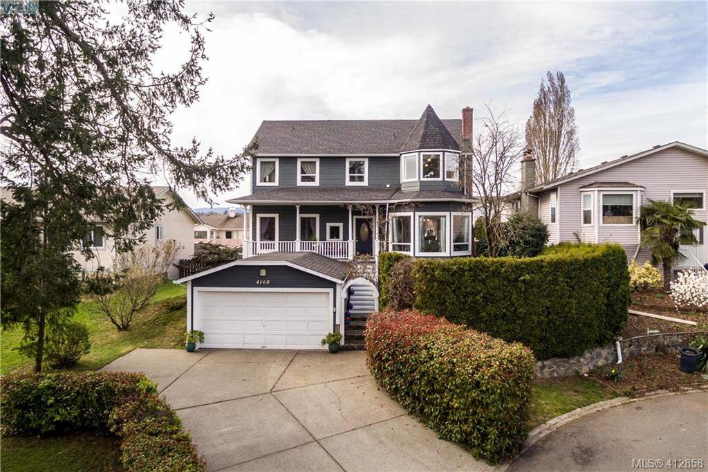 Large garage with dry storage under the front porch.