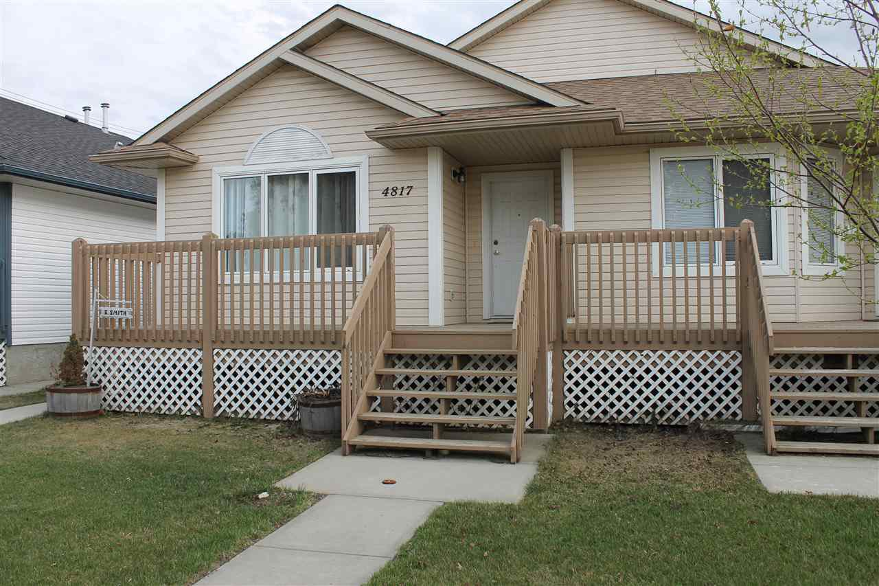 Main Photo: 4817 54 Avenue: Wetaskiwin House Half Duplex for sale : MLS®# E4198184