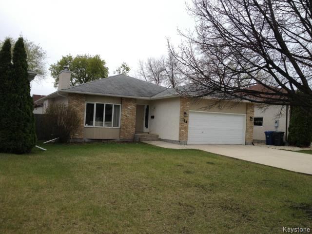 Main Photo: 114 Beechtree Crescent in WINNIPEG: St Vital Residential for sale (South East Winnipeg)  : MLS®# 1512269