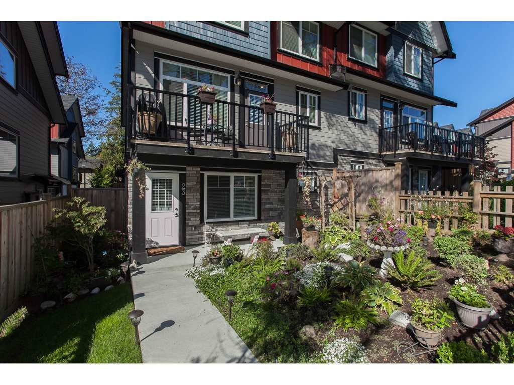 "Main Photo: 23 6929 142 Street in Surrey: East Newton Townhouse for sale in ""Redwood"" : MLS®# R2110945"