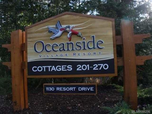 Main Photo: 234 1130 RESORT DRIVE in PARKSVILLE: PQ Parksville Row/Townhouse for sale (Parksville/Qualicum)  : MLS®# 686296