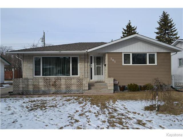 Main Photo: 585 Hartford Avenue in Winnipeg: West Kildonan / Garden City Residential for sale (North West Winnipeg)  : MLS®# 1606444