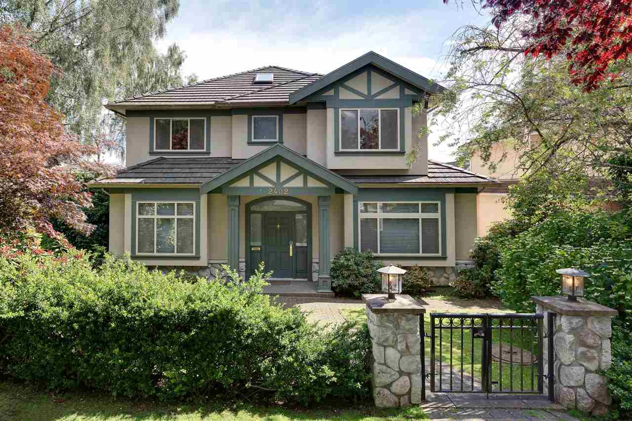 Main Photo: 2402 W 19TH Avenue in Vancouver: Arbutus House for sale (Vancouver West)  : MLS®# R2121010