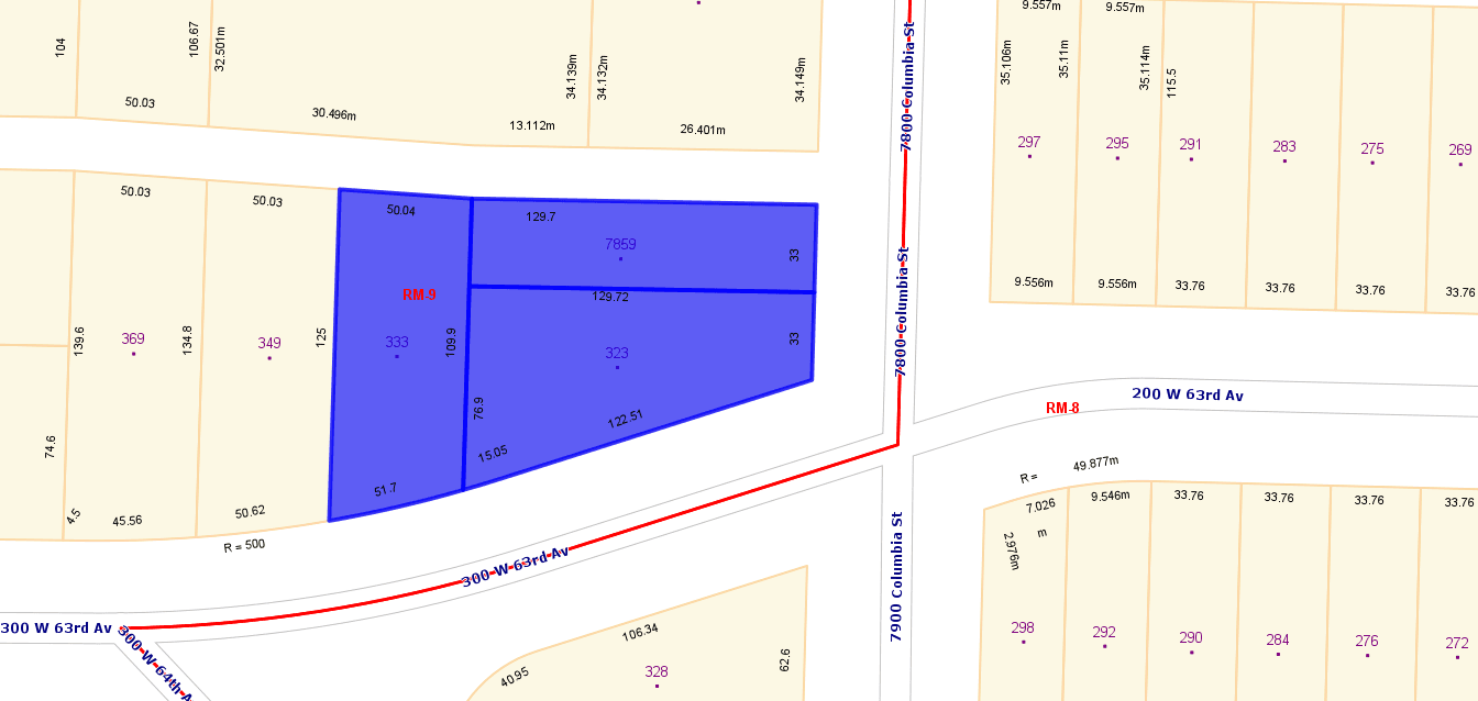 Main Photo: 323, 333 W 63rd Avenue in Vancouver: Marpole Land for sale (Vancouver West)