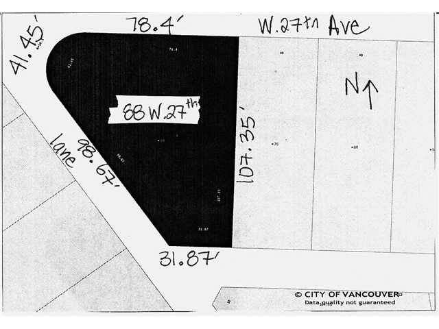 """Main Photo: 88 W 27TH Avenue in Vancouver: Cambie House for sale in """"Riley Park/Cambie"""" (Vancouver West)  : MLS®# V900358"""