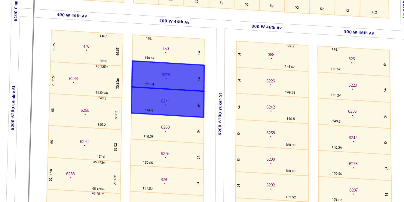 Main Photo: 6225 & 6241 Yukon Street in Vancouver: Cambie Land for sale (Vancouver West)
