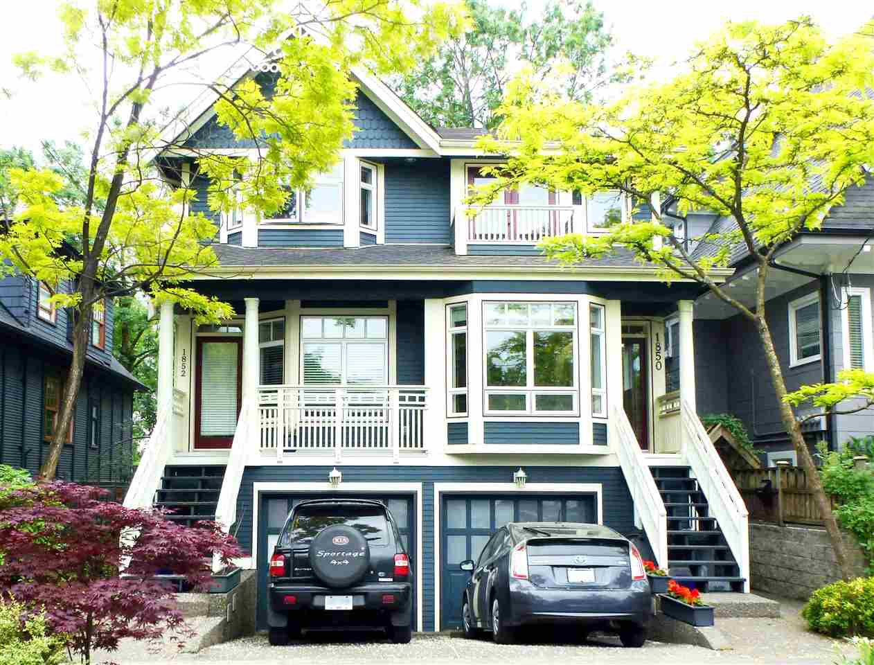 Main Photo: 1850 GRANT Street in Vancouver: Grandview VE 1/2 Duplex for sale (Vancouver East)  : MLS®# R2069613