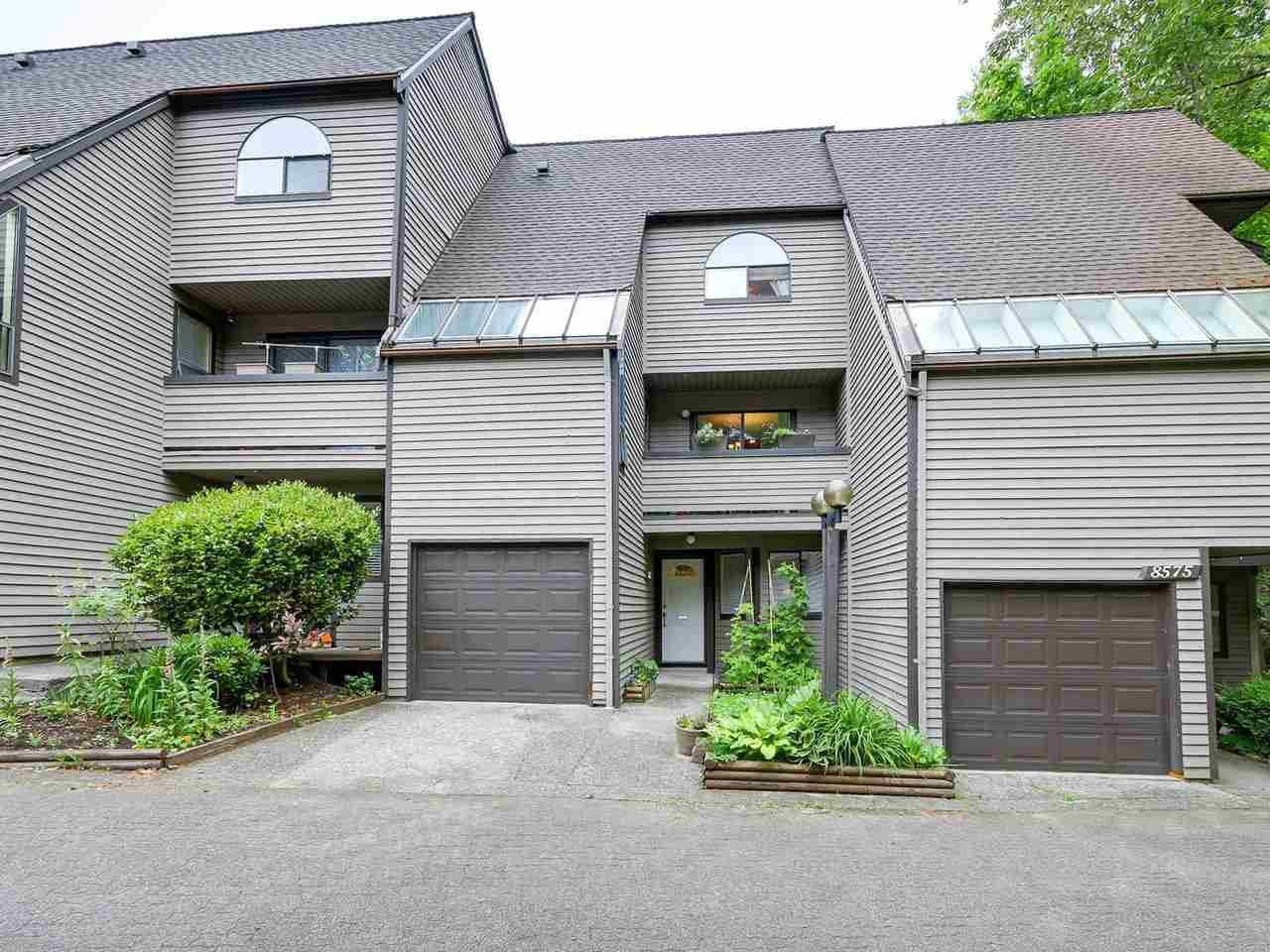 "Main Photo: 8573 WILDERNESS Court in Burnaby: Forest Hills BN Townhouse for sale in ""SIMON FRASER VILLAGE"" (Burnaby North)  : MLS®# R2171359"