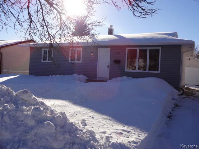 Main Photo: 78 Continental Avenue in Winnipeg: Single Family Detached for sale (North Kildonan)  : MLS®# 14000546