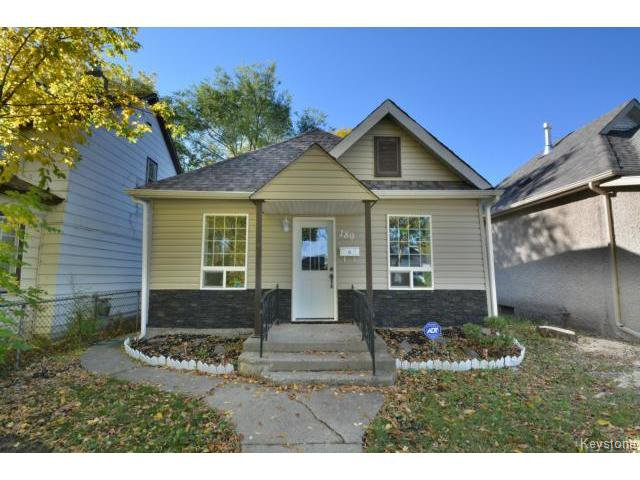 Main Photo: Chalmers ave in Winnipeg: Residential for sale : MLS®# 1321818