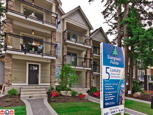 """Main Photo: 1 1434 EVERALL Street: White Rock Townhouse for sale in """"Evergreen Pointe"""" (South Surrey White Rock)  : MLS®# F1214067"""