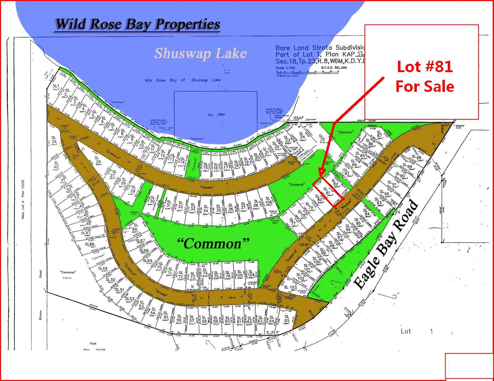 Main Photo: 81 6421 Eagle Bay Road in Eagle Bay: WILD ROSE BAY Vacant Land for sale (EAGLE BAY)  : MLS®# 10205572